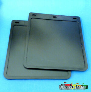 MFL0371 2x Plain Black Trailer Ute Mud Flaps Mudflaps 9x10 9in Wide 10in Drop