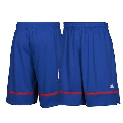 Kansas Jayhawks NCAA Adidas Men's March Madness Blue Basketball Shorts