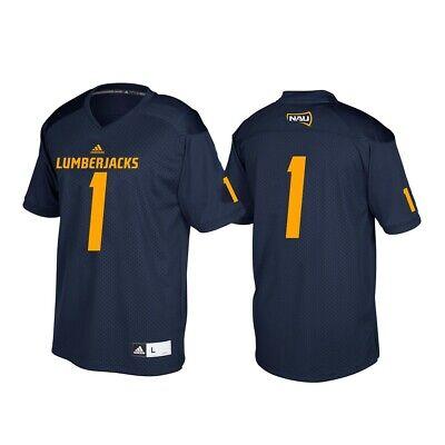 Adidas Replica Football Jersey - Northern Arizona Lumberjacks NCAA Adidas Navy Blue #1 Football Replica Jersey