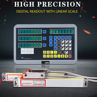 Us 2 Axis Digital Readout For Milling Lathe Machine With Precision Linear Scale