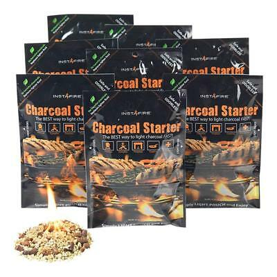 (InstaFire Charcoal Briquette Fire Starter Pouches for Grills, Smokers 10 PACK!)