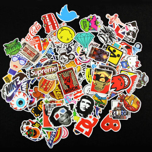 Home Decoration - 200 X Random Cool Vinyl Decal Graffiti Sticker Bomb Skate Laptop PVC Stickers UK
