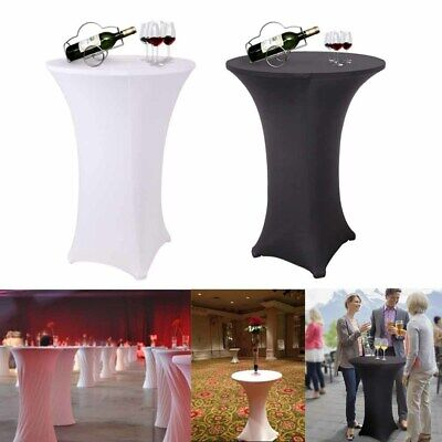 Lycra Spandex Bar Cocktail Table Covers Fitted Stretch Events Conference Wedding - Fitted Table Covers