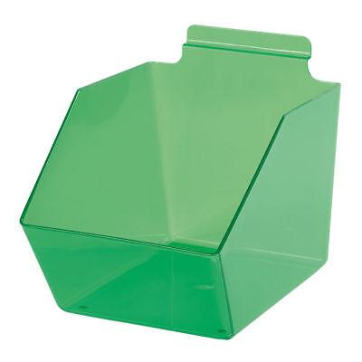 10 Slatwall Bins Dump Acrylic Green 9 X 6 W X 5 Plastic Retail Display