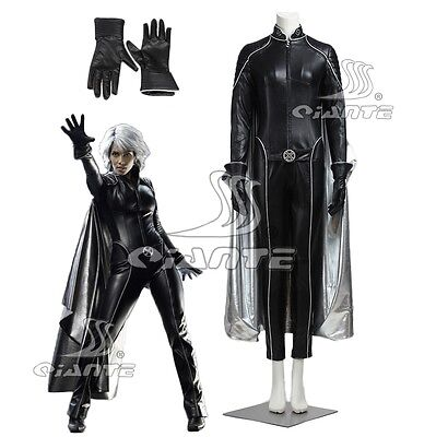 X-Men:The Last Stand Storm Ororo Cosplay Costume Faux Leather Suit with Cape](Storm X Men Cape)
