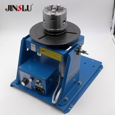 Rotary Welding Positioner Turntable Table With Mini 3 3 Jaw Lathe Chuck