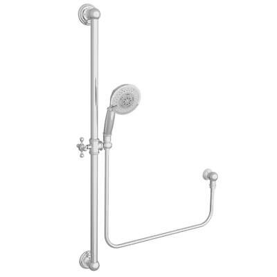 Newport Brass 280E/03N Slide Bar with Multifunction Hand Shower Set Brass Shower Slide Bar