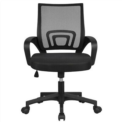 Ergonomic Mesh Office Chair Mid-back Height Adjustable Computer Chairblack