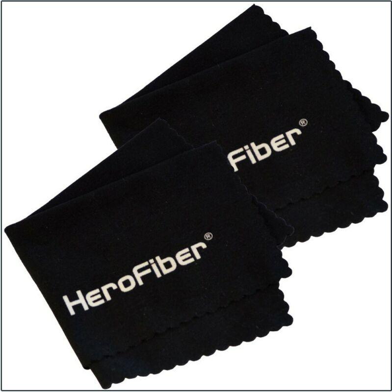 2 Hero Fiber Ultra Gentle Cleaning Cloths for Cameras, Lenses, Phones, Tablets