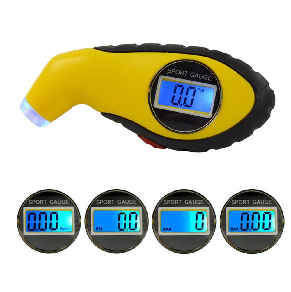 Digital Reifendruckmesser mit LCD Luftdruckprüfer Reifendruckprüfer Messgerät