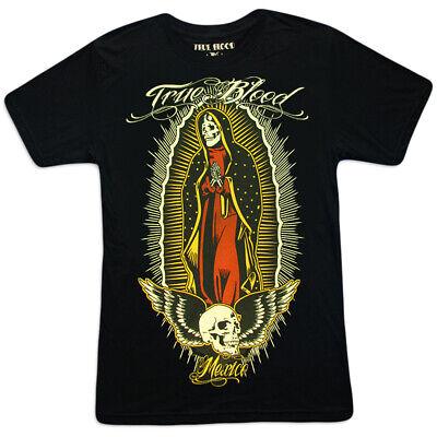 TRUE BIKER BLOOD T-Shirt Herren Santa Muerte Rockabilly Sugar-Skull Candy M L XL