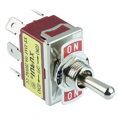 On-off-on Momentary Dpdt Toggle Switch 250v Ac 15a
