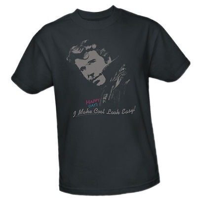HAPPY DAYS - I Make Cool Look Easy! Fonzie Pictured -- Adult Size T-Shirt Happiness Adult T-shirt