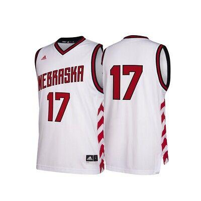 Nebraska Cornhuskers Jersey - Nebraska Cornhuskers NCAA Adidas #17 Hardwood Classics White Basketball Jersey