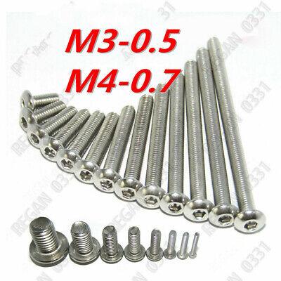 M3 M4 Stainless Steel Hex Socket Button Head Screws Bolts 10202550100pcs