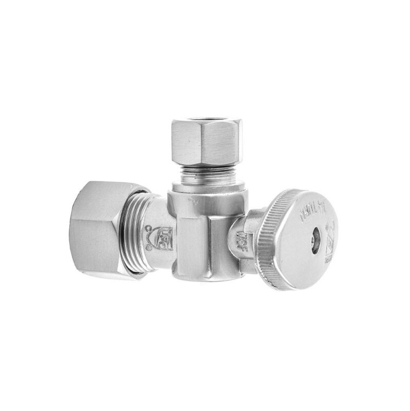 Jaclo 621-8-PCH Quarter Turn 5/8in OD Comp x 3/8in OD Ovl Hdl Angle Supply Valve