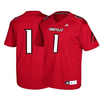 Louisville Cardinals #1 NCAA Adidas Youth Red Official Football Replica Jersey