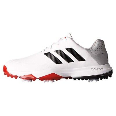NEW Mens Adidas Adipower Bounce Golf Shoes White / Black / Scarlett Size 11 M