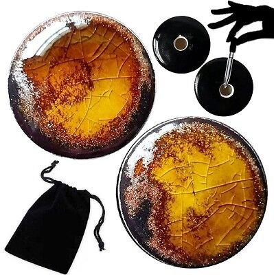 Pair - Amber Gold Flake Glass Ear Plugs Double-flared Gauges Stretchers Tunnels