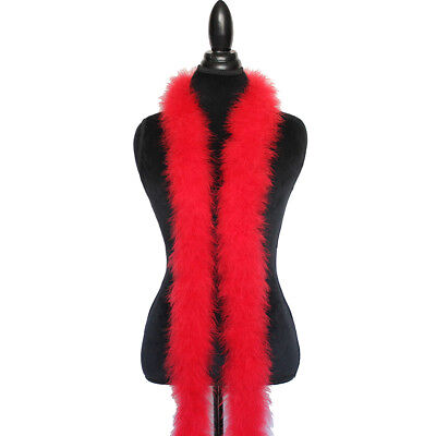 Red 30 Gram Marabou Feather Boa 6 Feet Long Crafting Sewing Trim Wedding ()