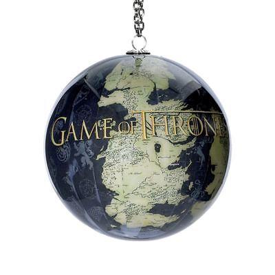 GAME OF THRONES Map of Westeros Globe Christmas Ball Ornament, by Kurt Adler (Globe Ornament)