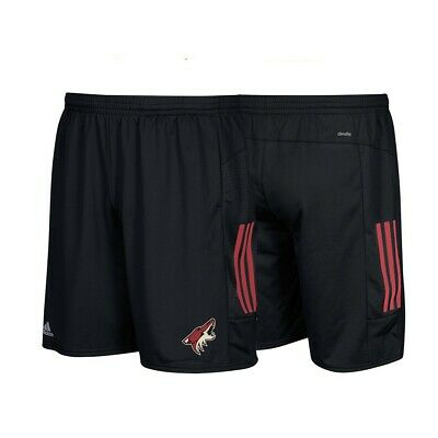 Arizona Coyotes NHL Adidas Climalite 3-Stripes Black Center Ice Shorts ()