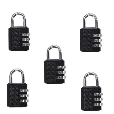 5 Pcs Mini 3 Digit Resetable Combination Travel Luggage Suitcase Lock Padlock