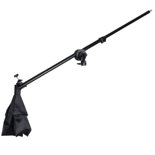 Photo Video Studio Lighting Boom Arm 78-143CM+Sandbag&Tripod Adapter Clamp Pivot