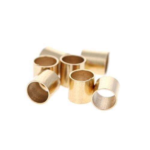 10pc,14KT Gold Filled 3x3mm Crimp Beads. Large Crimping Tubes, Gold Jewel ends