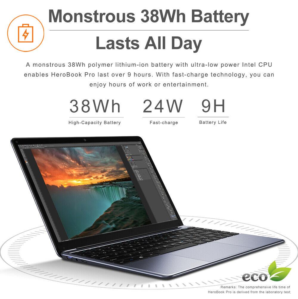 CHUWI HeroBook Pro 14.1 in Laptop Windows 10 Intel Dual Core 8+256G Notebook PC 3