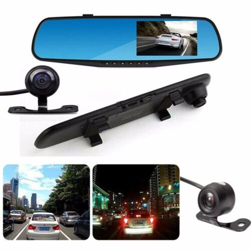 New 1080P HD Car Dash Camera Dual Cam Vehicle Front Rear DVR