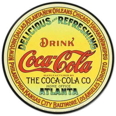 Coke - Round Keg Label Retro Tin Sign 12 X 12in