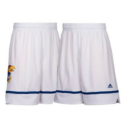 Kansas Jayhawks NCAA Adidas Men's March Madness White Basketball Shorts
