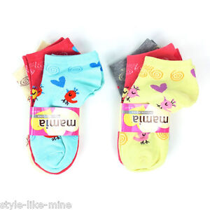 6 Pairs Women Ankle Socks Color Print Pattern Design Low Cut Sport Peds Lot Pack