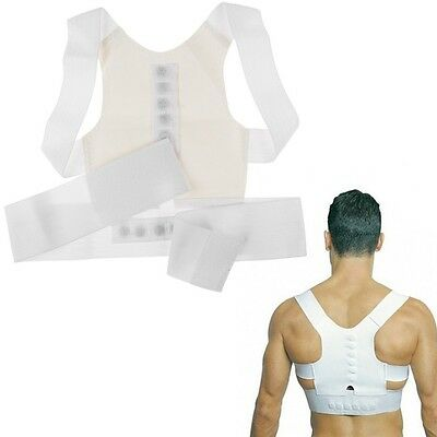 USA Magnet Posture Back Shoulder Corrector Support Brace Belt Therapy Adjustable