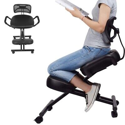 Adjustable Posture Correction Knee Stool Back Support Ergonomic Kneeling Chair