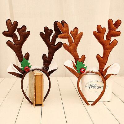 Women Christmas Reindeer Deer Elk Antlers Costume Ear Party Hair headband DIY](Diy Reindeer Antlers)