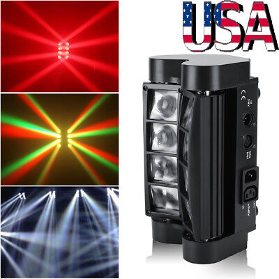 - 2x 80W RGBW LED Spider Moving Head Stage Lighting Beam DMX Disco Party DJ Lights