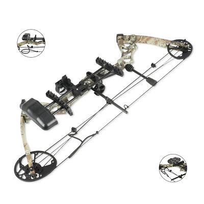 310fps Pro Camo Compound Right Hand Bow Kit Archery Arrow Target Hunting