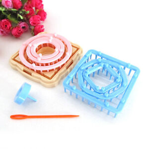 UK Hand Flower Loom Knitting Wool Knit Tool Set Hair Scarf Lace Pin Craft Maker