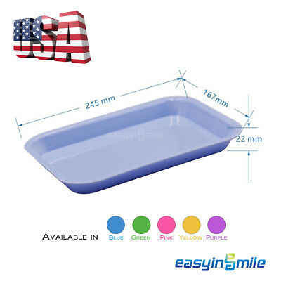 Easyinsmile Dental Instrument Flat Size F Mini Tray Autoclave 5 Colors Available