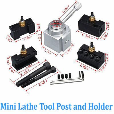 Aluminum Alloy Mini Lathe Tool Post Holder Kit Set Accessary 7x10in