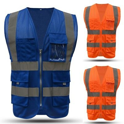 High Safety Security Visibility Reflective Vest Construction Trafficwarehouse