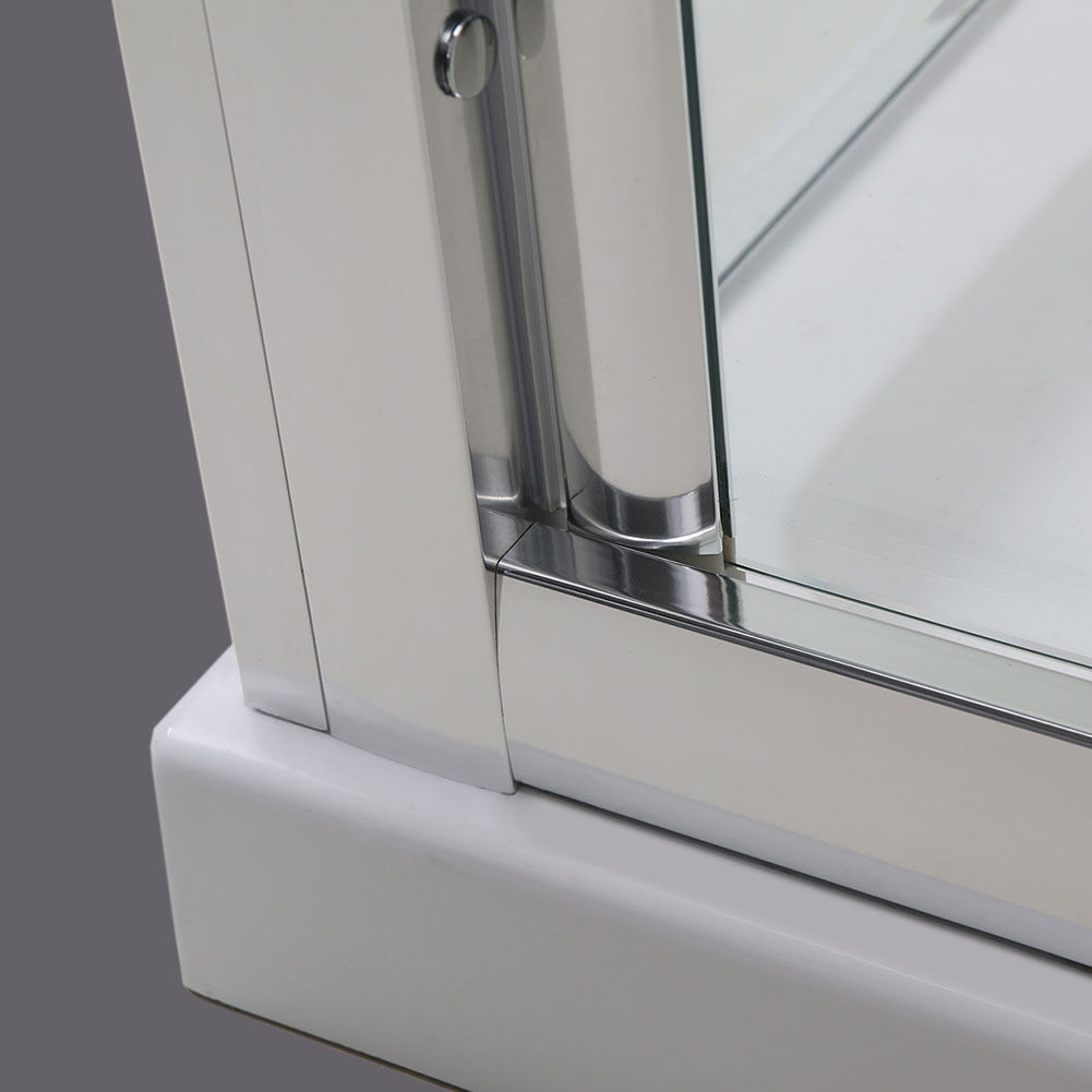 Bifold Shower Door Enclosure Glass Side Panel Stone Tray