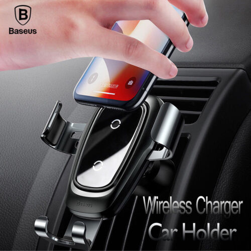 Baseus Wireless Car Mount Air Vent Phone Holder Qi Fast Char