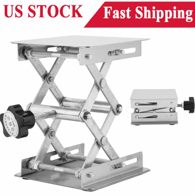 Stainless Steel Lifting Platform  Lifter Stand Rack Scissor   Holder