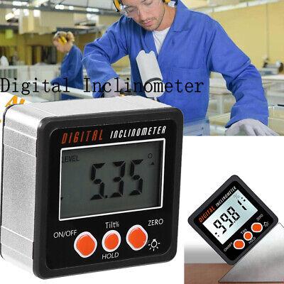 Us Mini Lcd Digital Inclinometer Protractor Bevel Box Angle Gauge Magnet Base