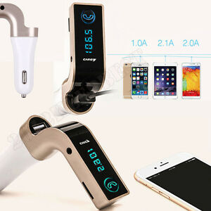 Bluetooth Car Kit MP3 Player FM Transmitter SD USB Charger For iPhone Samsung AU