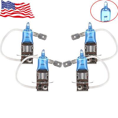 4x 12V 100W H3 Super White LED Halogen Car Driving Headlight Fog Light Bulbs US