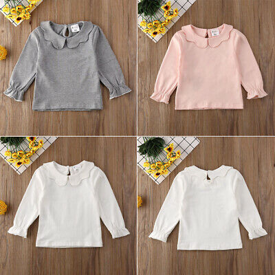 Casual Clothes For Girls (Toddler Kids Baby Girls Lace Casual Long Sleeve T-shirt Tee Tops Blouse)